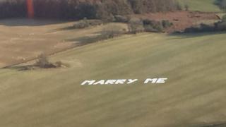 """""""Marry me"""" proposal near Lydney"""