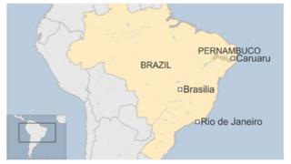 Map of Caruaru in Brazil