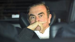 Former Nissan chairman, Carlos Ghosn, has left his lawyer's office after being released earlier in the day from a detention center after being released on bail on March 6, 2019. Tokyo.