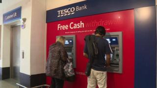 Tesco Bank cash machines