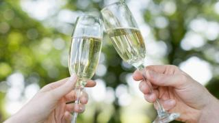 File image of toasting with sparkling wine