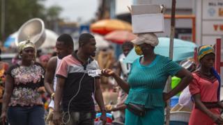 Market in Accra in Ghana