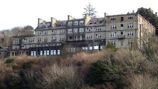 St David's Hotel, Harlech, in a derelict state