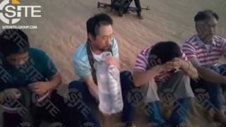 المهندس الكوري والفلبينيين الثلاثة ظهروا في فيديو قبل أسبوع