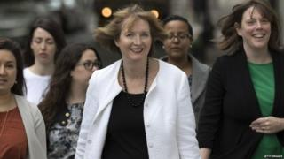 Harriet Harman with other Labour MPs and officials
