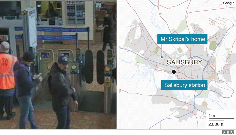 Suspects at Salisbury station
