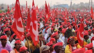 किसानों का मार्च