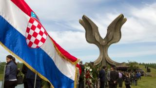 The official Croatian Government commemoration for victims of Jasenovac 22 April 2016