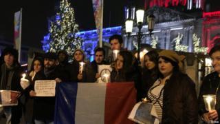 French terror attack vigil