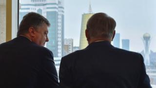 Порошенко и Назарбаев