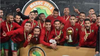 Morocco celebrate winning the African Nations Championship
