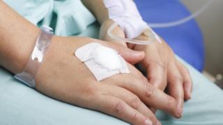 patient having chemo
