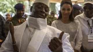 President Jammeh after voting in December