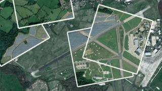 in_pictures Promo image showing the RAF Lyneham solar farm before and after