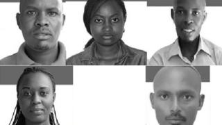 Hejuru uhereye ibumoso; Térence Mpozenzi, Agnès Ndirubusa, Egide Harerimana. Hasi: Christine Kamikazi n'umushoferi wabo Adolphe Masabarakiza barakomeza gufungwa