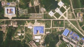 据卫星图显示,朝鲜开始重建其火箭发射场