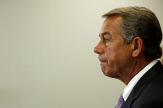 US House Speaker John Boehner (R-OH) holds a news conference following a House Republican caucus meeting at the U.S. Capitol in Washington in this September 9, 2015, file photo.
