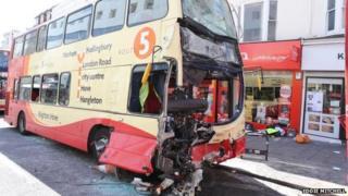 Bus crash in Brighton