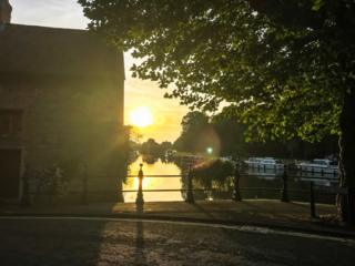 Sunrise at St Helen's Wharf in Abingdon