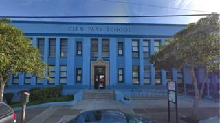 Glen Park school entrance