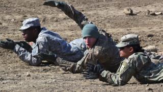駐韓美軍訓練