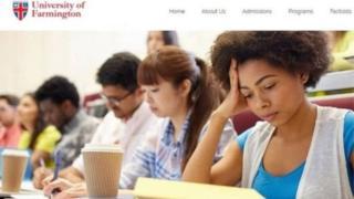 युनिव्हर्सिटी ऑफ फार्मिंगटनची वेबसाइट