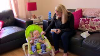 Gemma Bradley with her child Callum