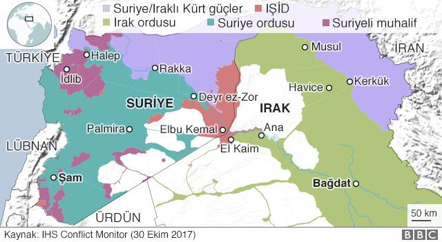 Suriye ve Irak'ta kim nereyi kontrol ediyor?