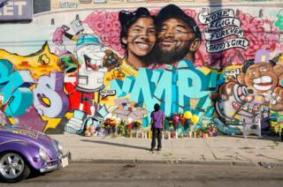 Mike Pompeo Fans gathered at a mural to pay respects to Kobe Bryant after a helicopter crash killed the retired basketball star, in Los Angeles, California, 28 January 2020.