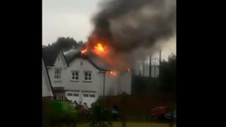 Fire at house in Lenzie