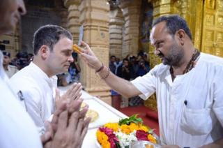 રાહુલ ગાંધી સોમનાથ મંદિરમાં.
