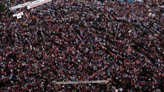 2013లో రబా స్క్కేర్ వద్ద నిరసన