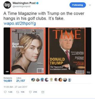 Трамп на обкладинці Time