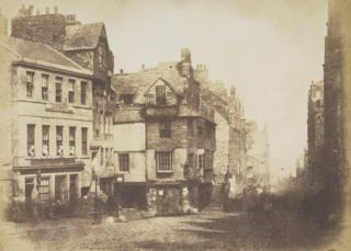 The High Street with John Knox's House
