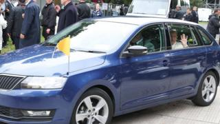 The blue Skoda Rapid will be used to help transport families to new homes