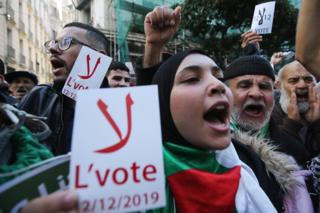 in_pictures Anti-election protesters in Algiers, Algeria - Tuesday 26 November 2019