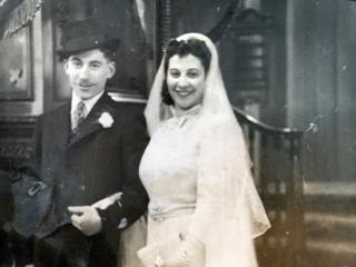 Howard Jacobson's parents on their wedding day