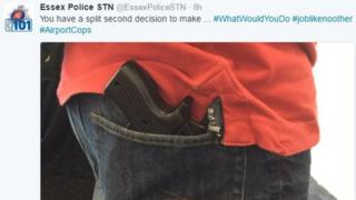 Police tweet of gun-shaped iPhone case