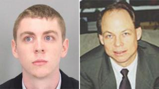 Brock Turner (left) was sentenced by Judge Aaron Persky (right)