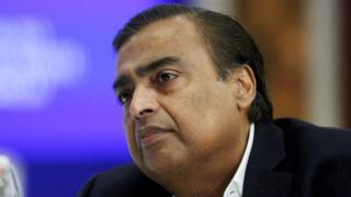 Managing Director of Reliance Industries, Mukesh Ambani.