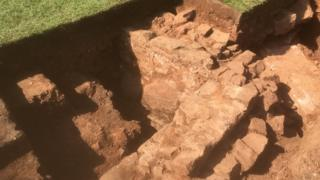 Walls uncovered during dig