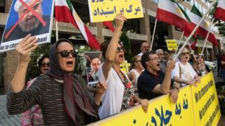 تظاهرات مجاهدین خلق