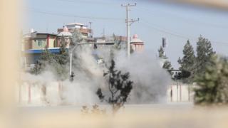 مقر محطة التلفزيون في كابول