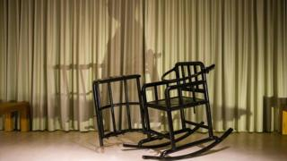 The restraining chair of the type used in China that was to have been part of Badiucao's show