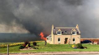 Fire in Dunphail area
