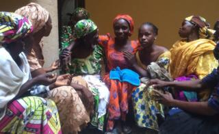 The 21 Chibok girls released by the militant group Boko Haram have returned home for Christmas