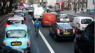 Traffic jam in central London