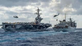 উপসাগরে দুটো বিমানবাহী যুদ্ধজাহাজ পাঠিয়েছে আমেরিকা