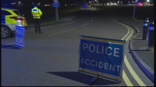Police signs in Kelloholm