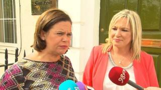 Sinn Féin vice-president (left) with the party's Stormont leader, Michelle O'Neill